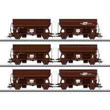 Marklin 46308 - Rail Cargo Austria 3-tlg. Set Wagen-Paaren Schwenkdachwagen Bauart Tdrrs