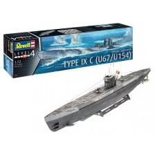 Revell 05166 - German Submarine Type IX C Early 1/72