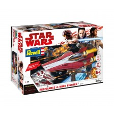 Revell 06759 - Star-Wars: Resistance A-Wing Fighter, Red 1/44