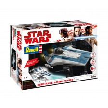 Revell 06762 - Star-Wars: Resistance A-Wing Fighter, Blue 1/44