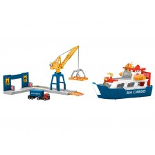 Marklin 72223 - Vrachtschip en havenkraan