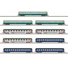 """Marklin 87408 - DB/SNCF/SBB Wagen-Display """"Reisezugwagen"""" - MHI"""