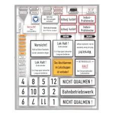 Artitec 10.352 - Duitse depotborden, tijdperk III-IV