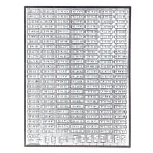 Artitec 10.353 - Duitse autonummerborden Set A, 1956-1994