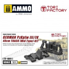 Tori Factory TF10001 - German Pz.kpfw. III/IV 40cm Track (Mid Type) 1/1