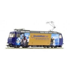 "Bemo 1259334 - MOB Elektrolokomotive Ge 4/4 8004 ""GoldenPassLine"""