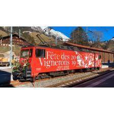 "Bemo 1280335 - MOB Universallokomotive GDe 4/4 6005 ""Fête des Vignerons"""
