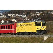 "Bemo 1358182 - RhB Ge 4/4 II 612 Werbelok ""Burghalter group"" digital mit Sound"