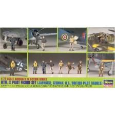 Hasegawa 35008 - WW II Pilot Figure Set 1/72