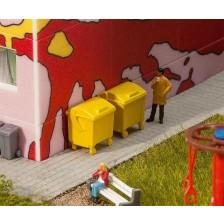 Faller 180913 - 2 Gele afvalbakken
