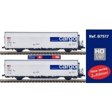 Mabar 87517 - SBB CARGO CH-SBBc 2-tlg Set Kühlwagen Hbbills-uy #081/085