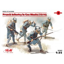 ICM 35696 - French Infantry in Gas Masks (1916) 1/35