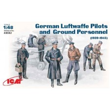 ICM 48082 - WWII Luftwaffe Pilots and Ground Personnel 39-45 1/48