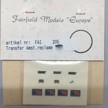 Fairfield 205 - Transfer set Amsterdamse reclame