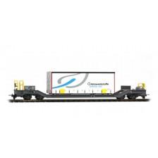 """Bemo 2289164 - RhB Planenbehältertragwagen Sbk-v 7704 """"Gfeller"""""""