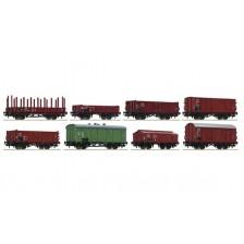 Roco 44001 - CSD 8-tlg. Set: Güterwagen