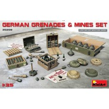 MiniArt 35258 - German Grenades & Mine Set 1/35