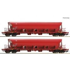 Roco 67087 - DB AG 2-tlg. Set: Selbstentladewagen Gattung Facs