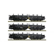 Fleischmann 845513 - NS 3-tlg. Set Schwerlastwagen Bauart Samms beladen mit Stahlbrammen