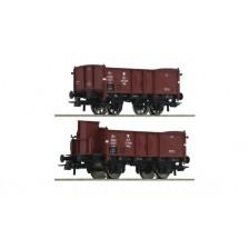 Roco 76069 - PKP 2-tlg. Set: Offene Güterwagen