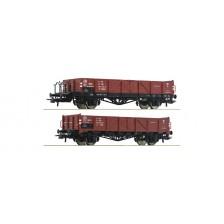 Roco 76281 - PKP 2-tlg. Set: Offene Güterwagen