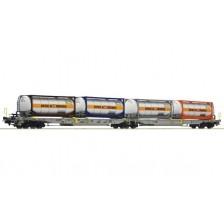"""Roco 76438 - AAE Doppeltaschen-Gelenkwagen, Bauart Sdggmrs/T2000 """"Spedition Bertschi"""""""