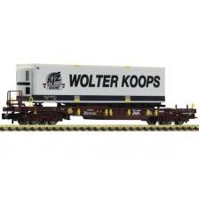 """Fleischmann 825055 - AAE Taschenwagen Bauart Sdgmns 33 """"Wolter Koops"""""""