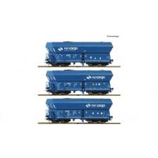 Roco 76046 - PKP Cargo 3-tlg. Set: Selbstentladewagen Bauart Falns