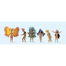 Preiser 24625 - Karneval, Samba-Tanzgruppe