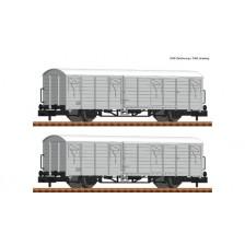 Fleischmann 826212 - DR 2-tlg. Set: Gedeckte Güterwagen Gattung Ibblps 8258