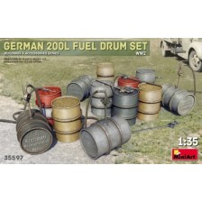 MiniArt 35597 - German 200 Liter Fuel Drum Set 1/35