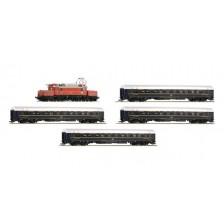 Roco 61468 - ÖBB 5-tlg. Set: Elektrolokomotive Rh 1020 und 4 CIWL Schlafwagen (DC)