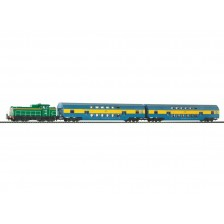 Piko 97934 - Start-Set SM42 mit Doppelstockwagen PKP (DC)