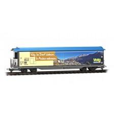 """Bemo 2588163 - RhB Schiebewandwagen Haikqq-uy 5163 Volg """"Ardez"""" beige (AC)"""