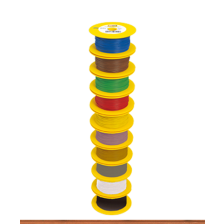 Brawa 3116 - Litze 0,14 mm², 100m Spule, dunkelbraun