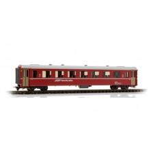 Bemo 3240136 - RhB B 2436 Einheitswagen II rot (gelbe Bremsecken)