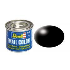 Revell 32302 - 302 Zwart zijdemat - Email verf 14 ml