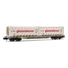 """Arnold HN6444 - HUPAC Containerwagen beladen mit 2 x 30' Bulk-Containern """"Giezendanner"""""""