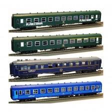"""Pi.R.A.T.A. 92018 - SNCB 4tlg. Personenwagenset C """"Railtour 1971/72"""" Brüssel - Bologna"""