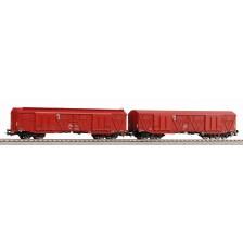 Piko 58232 - PKP 2-tlg. Set gedeckter Güterwagen 401Ka Gags-t + 401Ka Gas