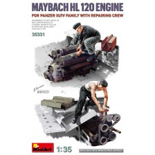 MiniArt 35331 - Maybach 120 Engine for Panzer III/IV Family w/Repair Crew 1/35