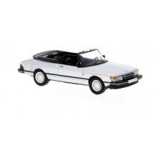 Brekina PCX870126 - Saab 900 Cabriolet, silber, 1986