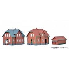 Kibri 36784 - Werkswohnhaus, 2 Stück und ein Nebengebäude