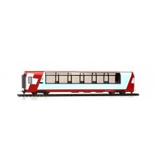 """Bemo 3689128 - RhB 2. Klasse Panoramawagen Bp 2538 """"Glacier-Express"""" (DC)"""