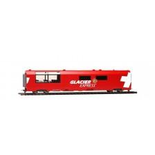 "Bemo 3689132 - RhB Panorama-Servicewagen WRp 3832 ""Glacier-Express"" (DC)"