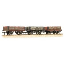 Bachmann 37-097 - 5 Plank Wagons Coal Trader Triple Pack