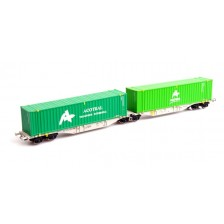 Mehano 58966 - Containertragwagen Sggmrss 90' AAE mit 2x 45' Container Acotrail