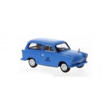Brekina 27555 - Trabant P 50 Kombi, blau, Deutsche Post Studiotechnik, 1960