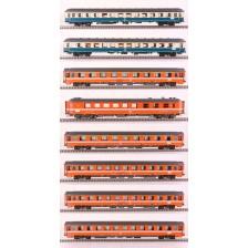 LS Models MW1907 - SNCB/ DB 8-tlg. Personenwagenset Set Amsterdam-Paris INT 282