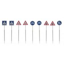 Artitec 387.215 - NL-verkeersborden: voetganger, fiets, trein 9 stuks